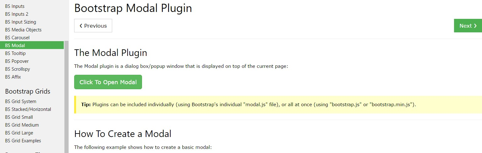 Bootstrap Modal Popup:  guide tutorial