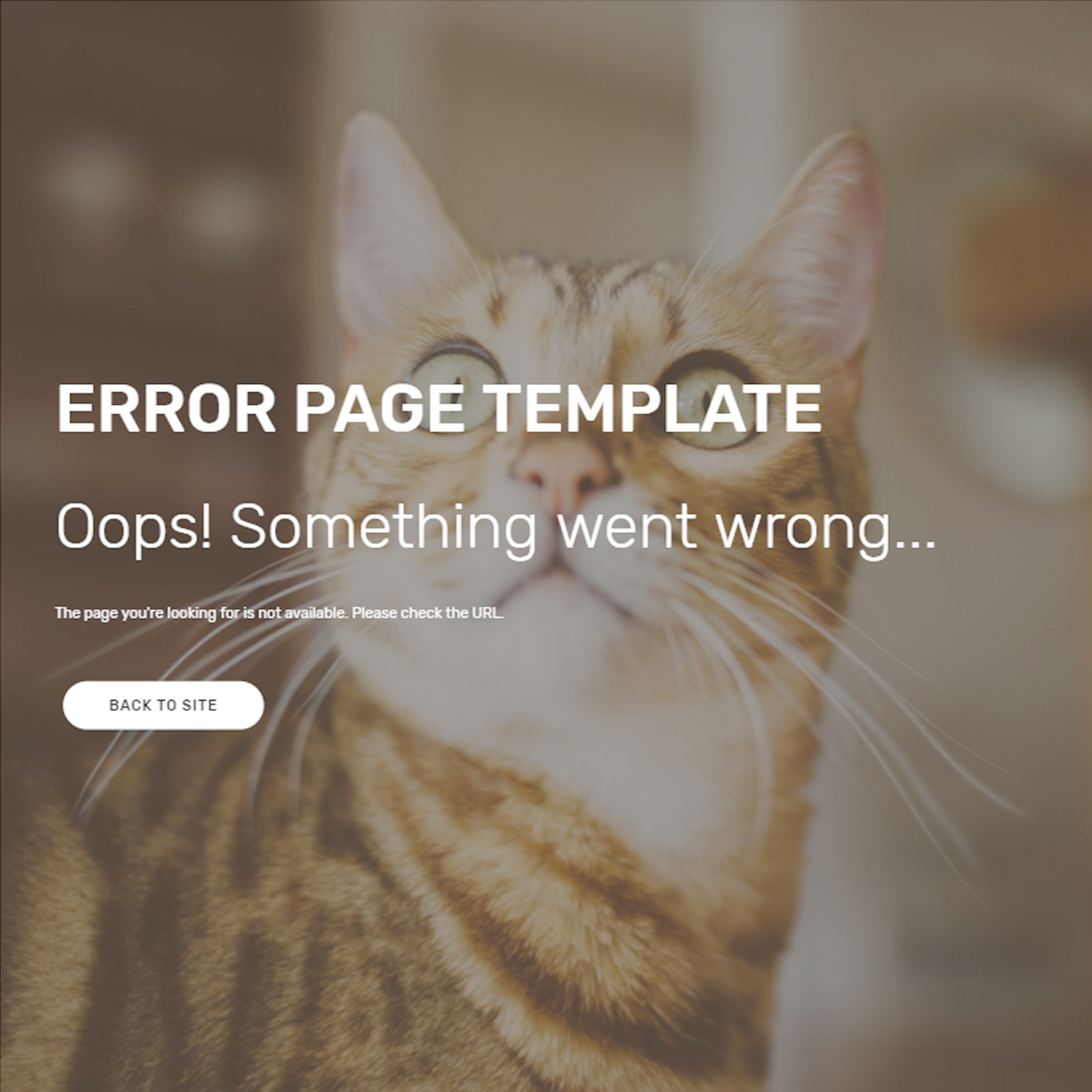 CSS3 Bootstrap Error Page Themes