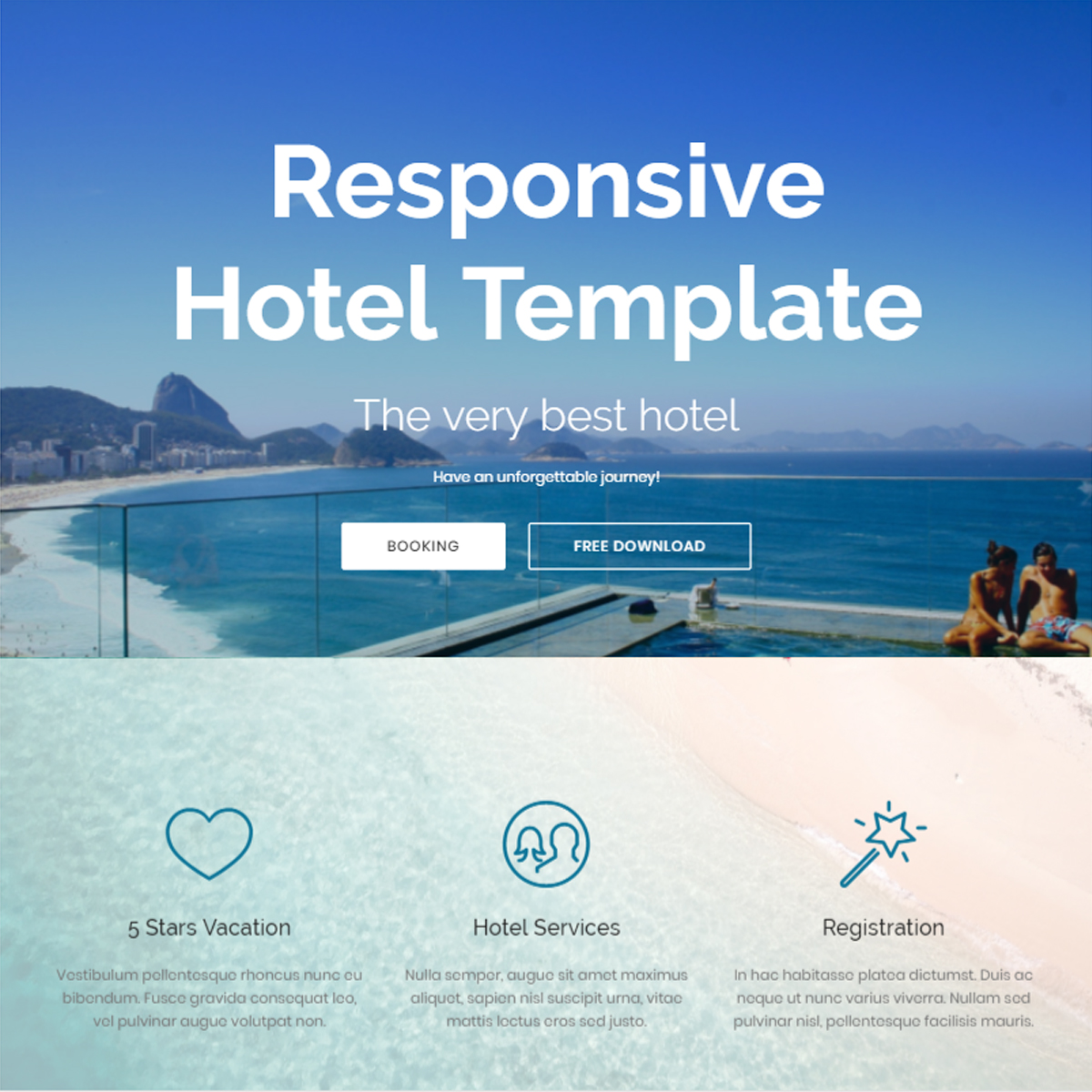 Free Download Bootstrap Hotel Themes