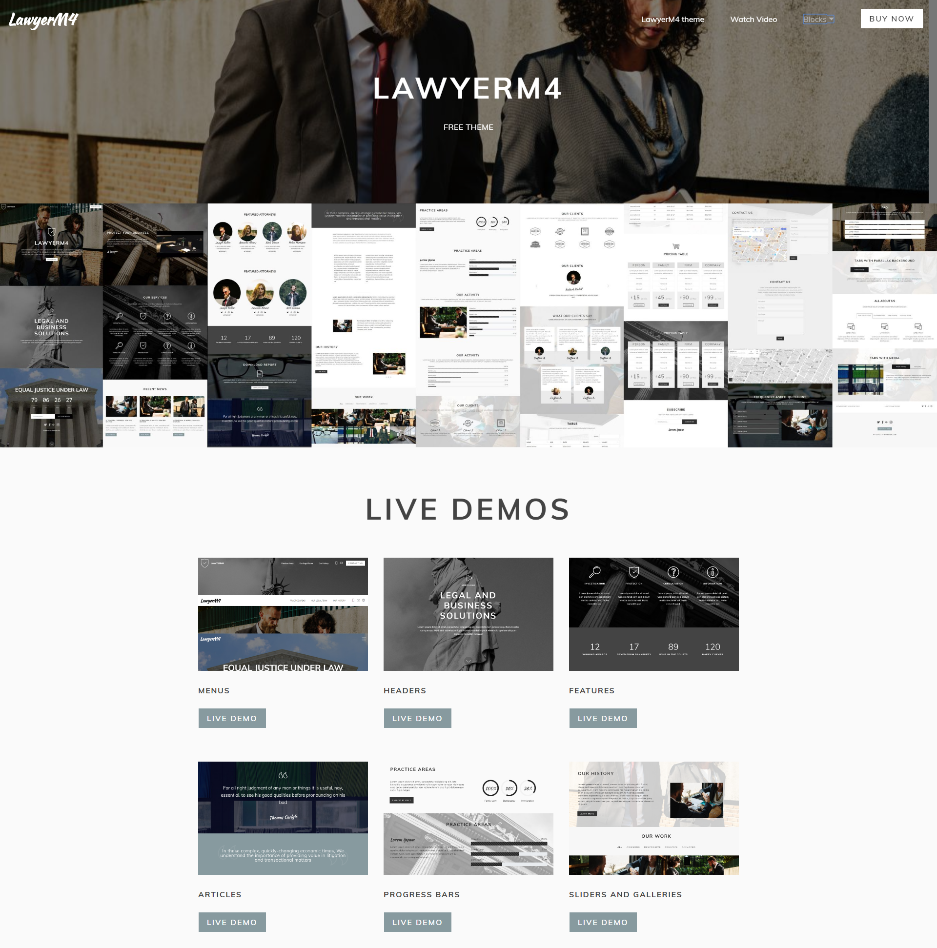 Responsive Bootstrap LawyerM4 Templates