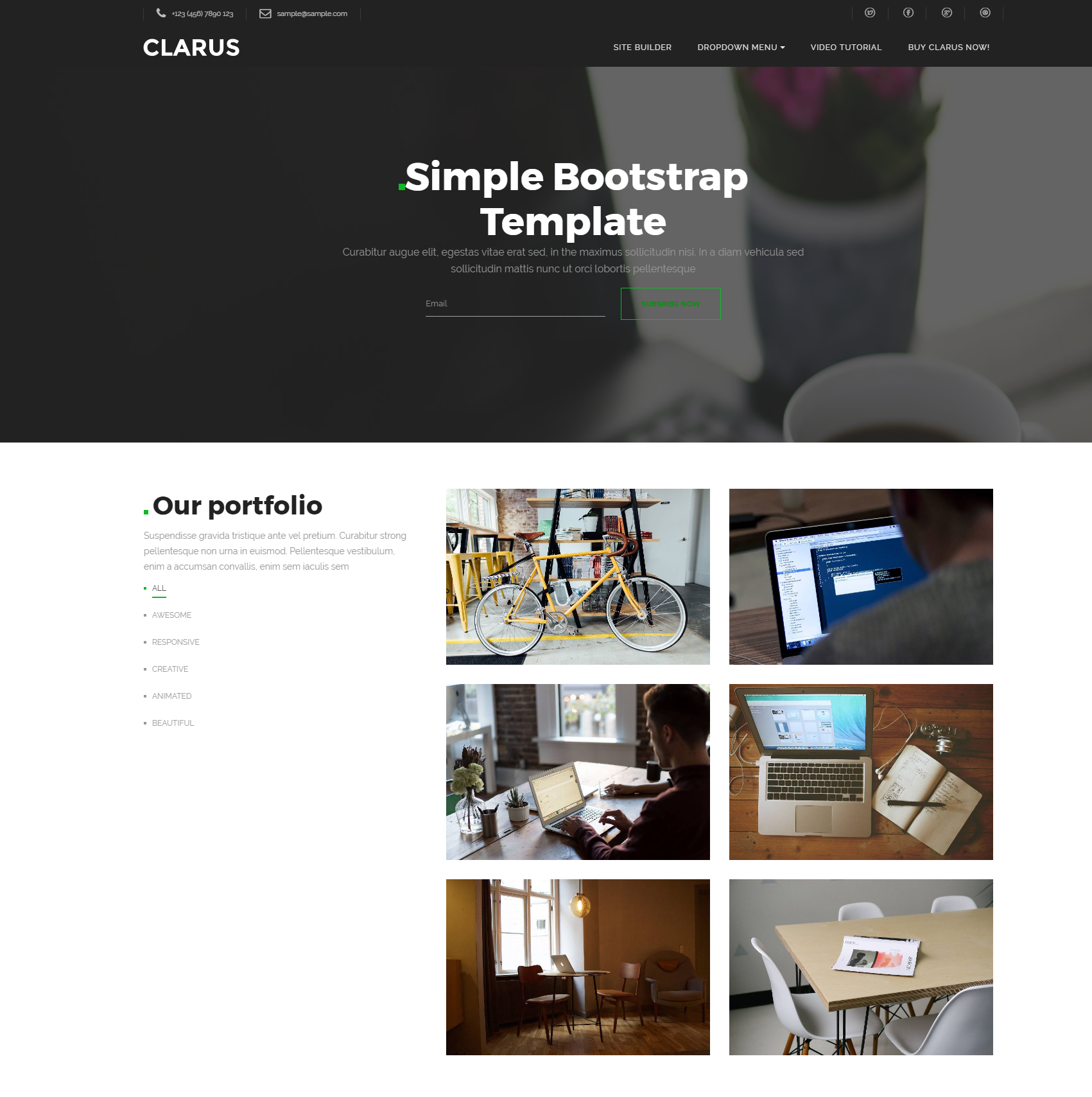 HTML Bootstrap Simple Themes