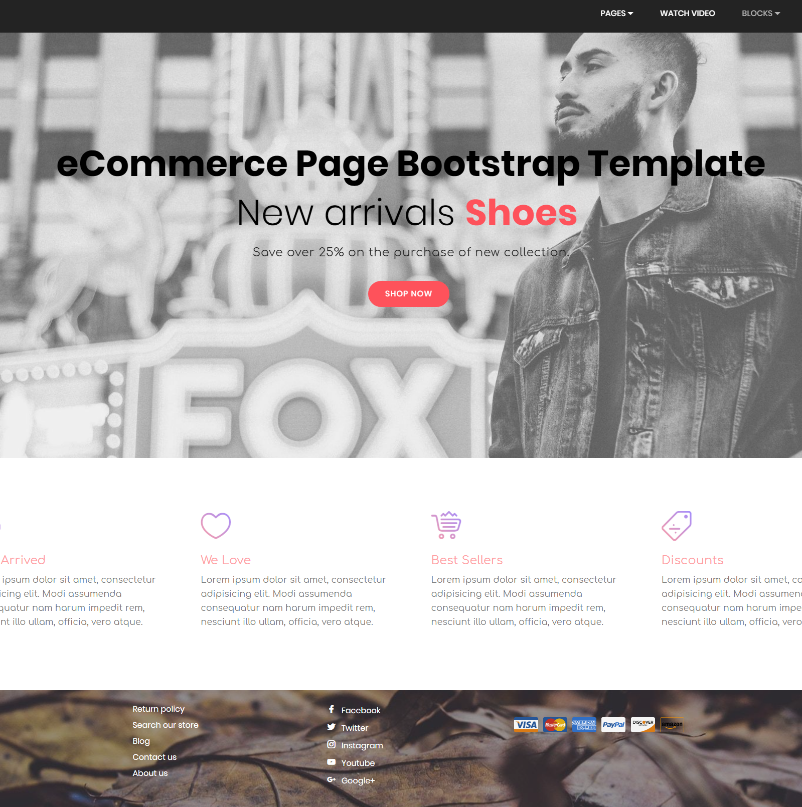 Free Download Bootstrap eCommerce Themes