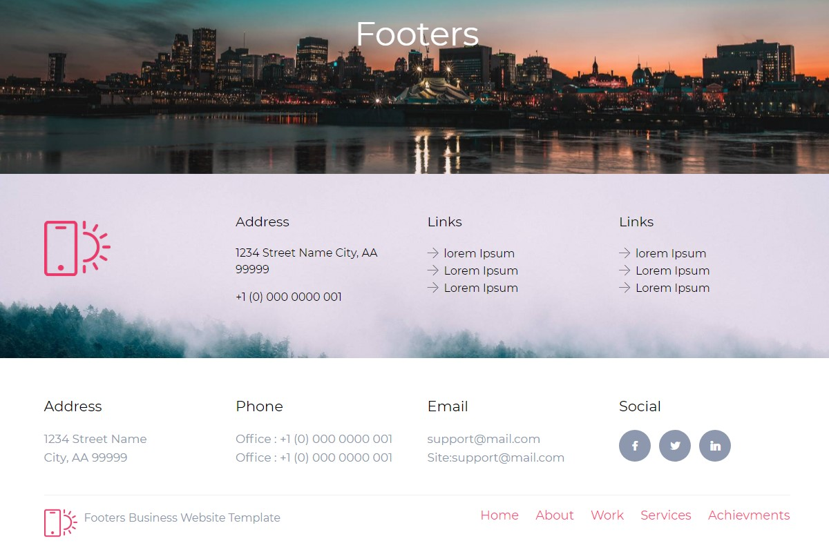 Responsive Footer
