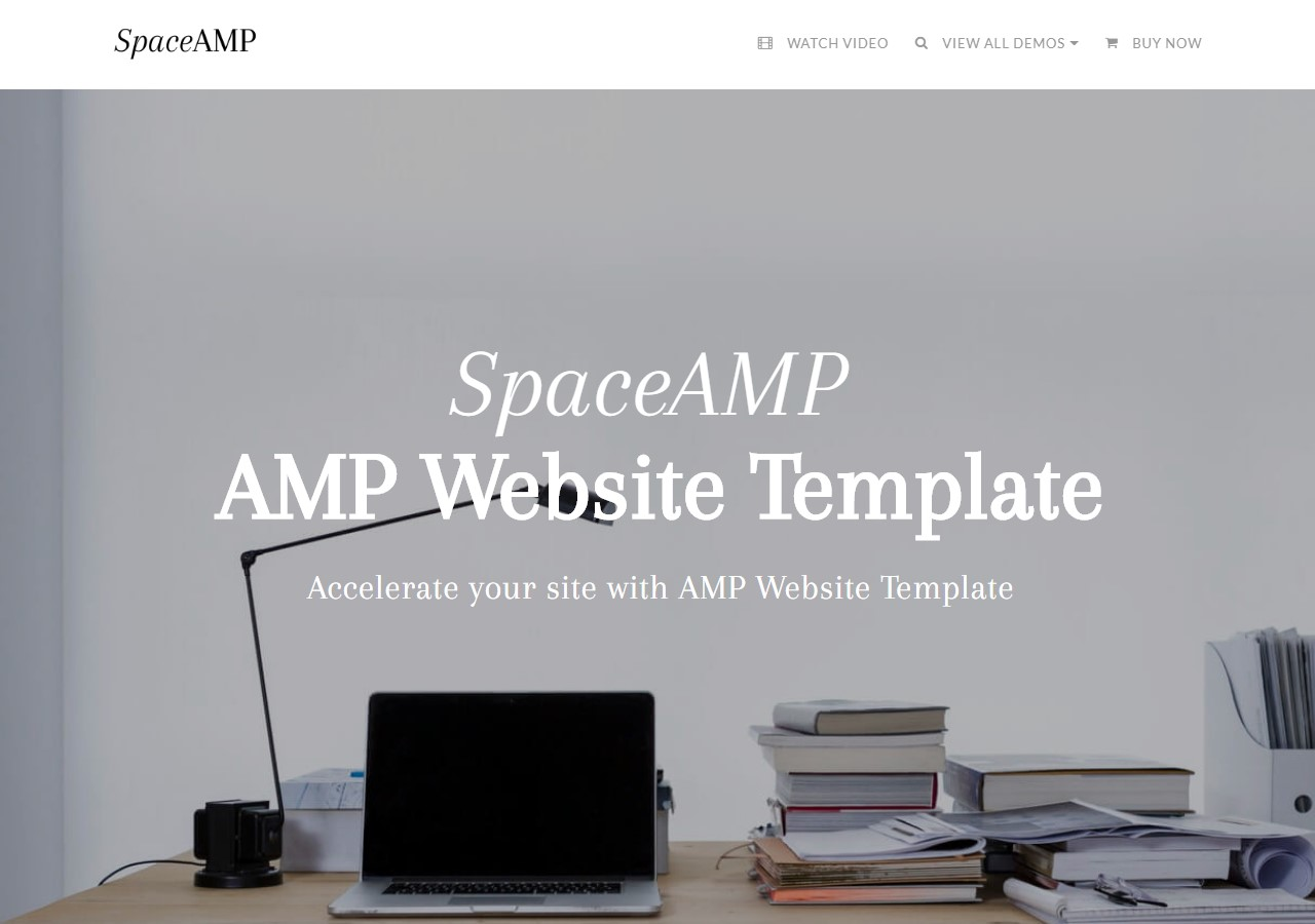 AMP Website Template