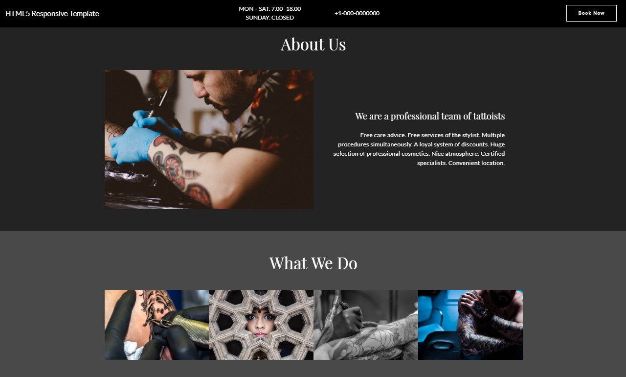 HTML5 Responsive Template