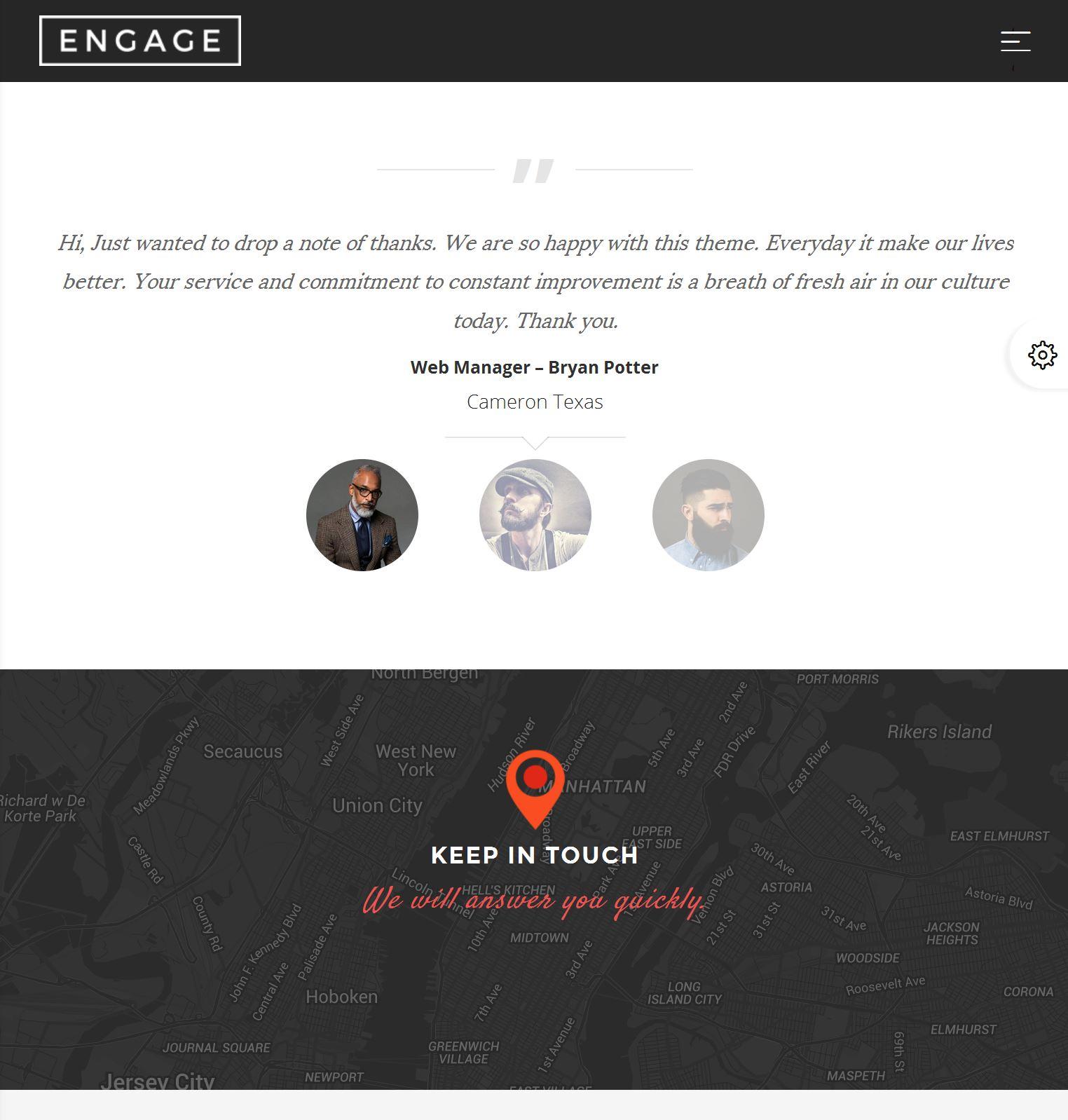 Bootstrap Template Blog