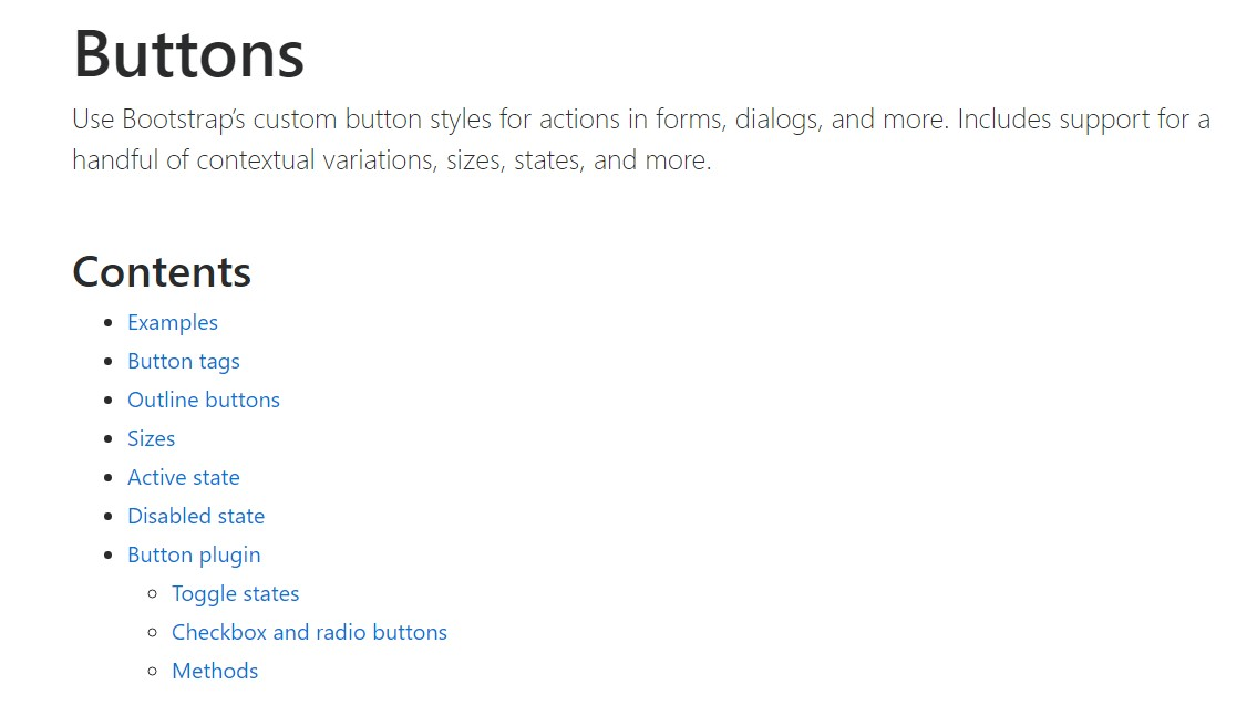 Bootstrap buttons  approved  information