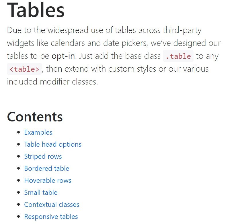Bootstrap tables official  records