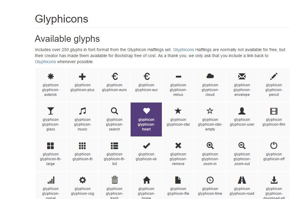 bootstrap glyphicons bundle