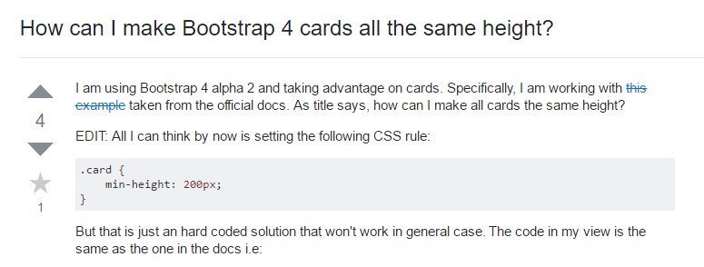 Insights on  just how can we  set up Bootstrap 4 cards  all the same  height?