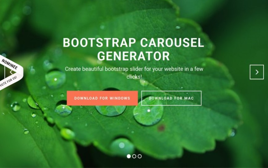 Bootstrap Carousel Template