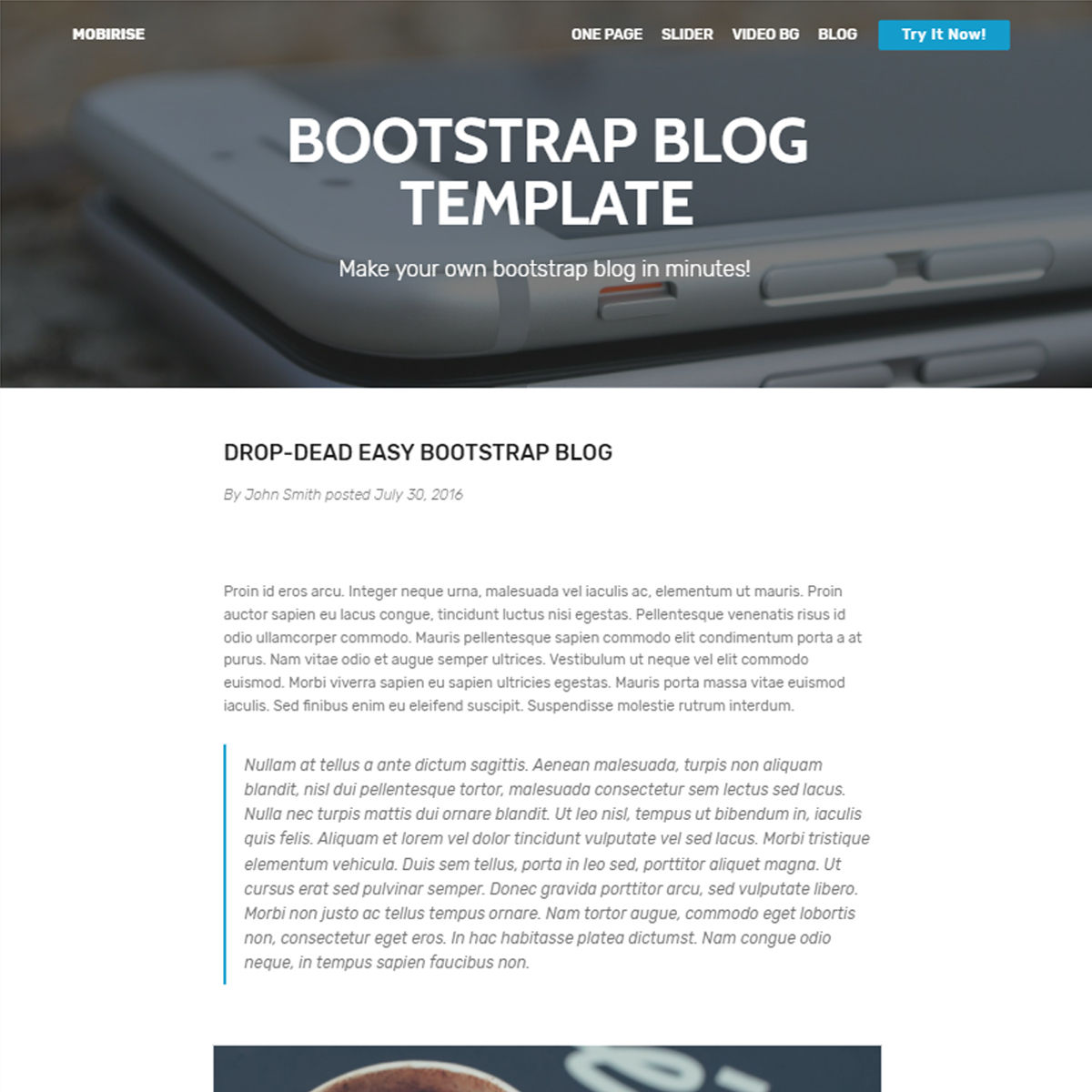 Free Download Bootstrap Blog Templates