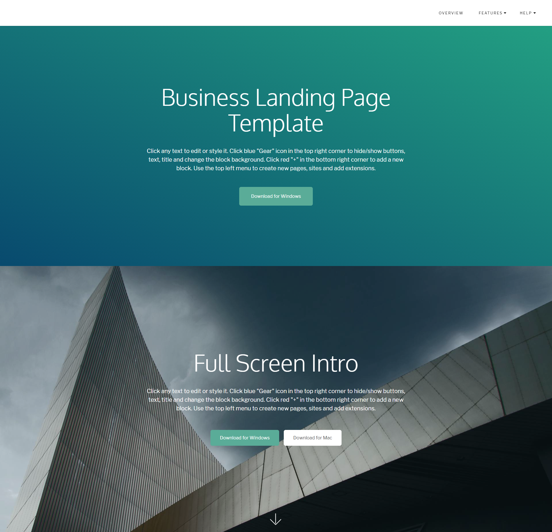 HTML Bootstrap Business Landing Page Themes