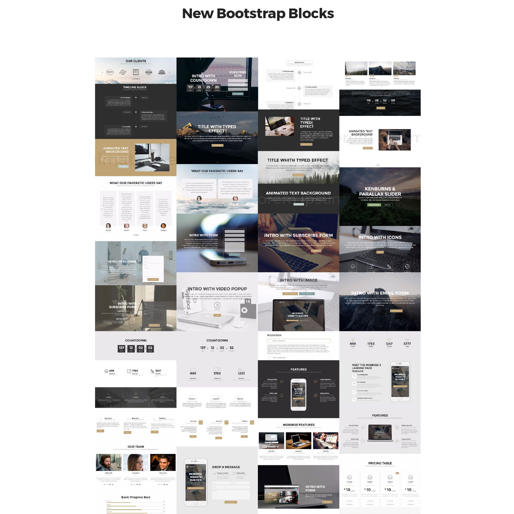 Responsive New Bootstrap Templates