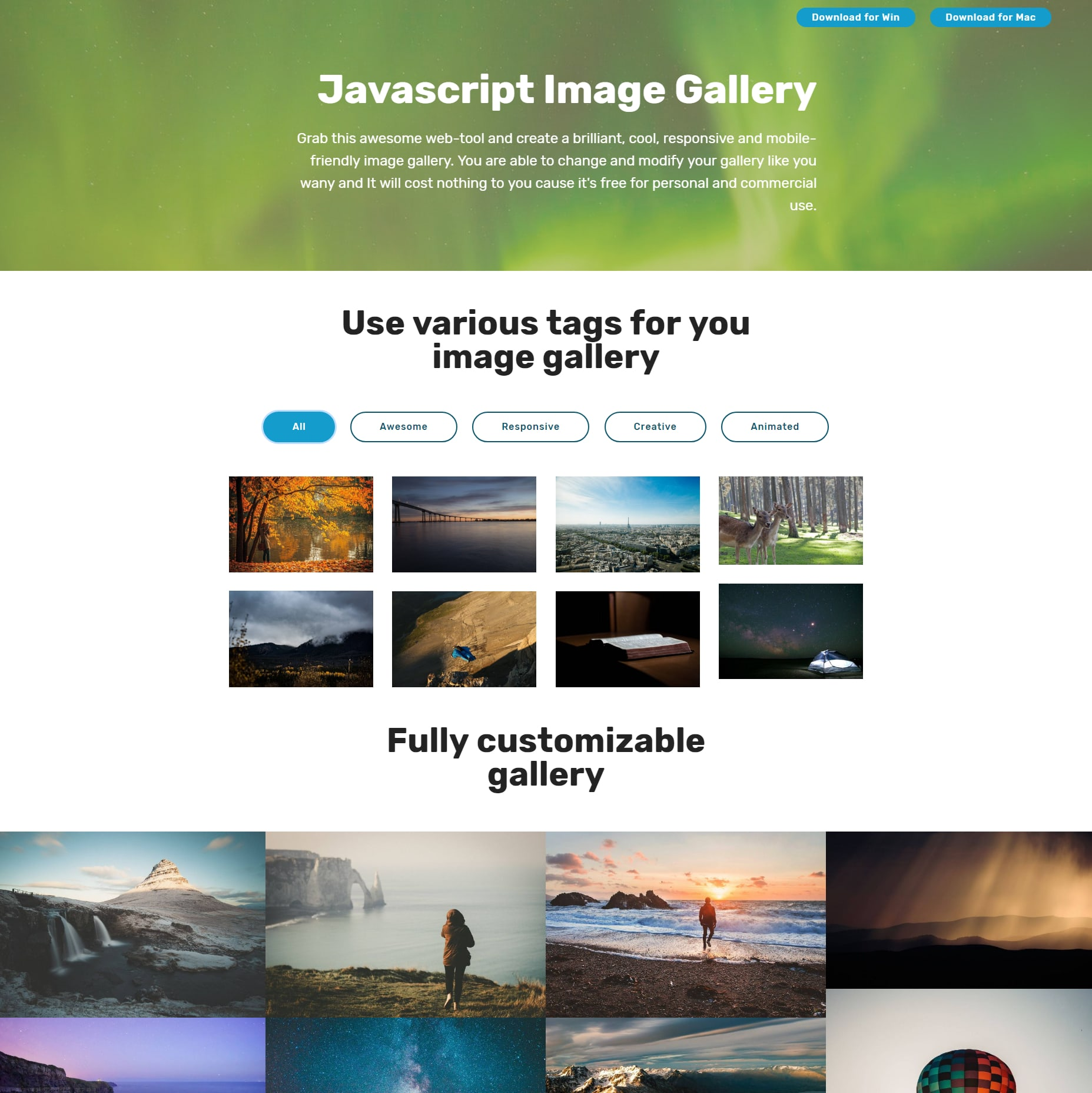 CSS Bootstrap Illustration Gallery