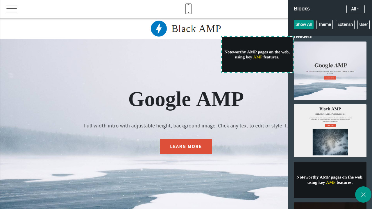 AMP Page Theme