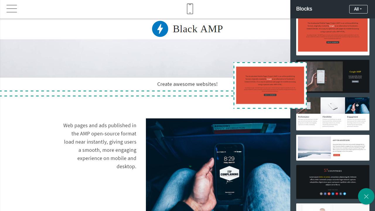 amp page theme free