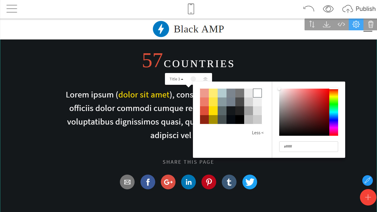 amp page theme free download
