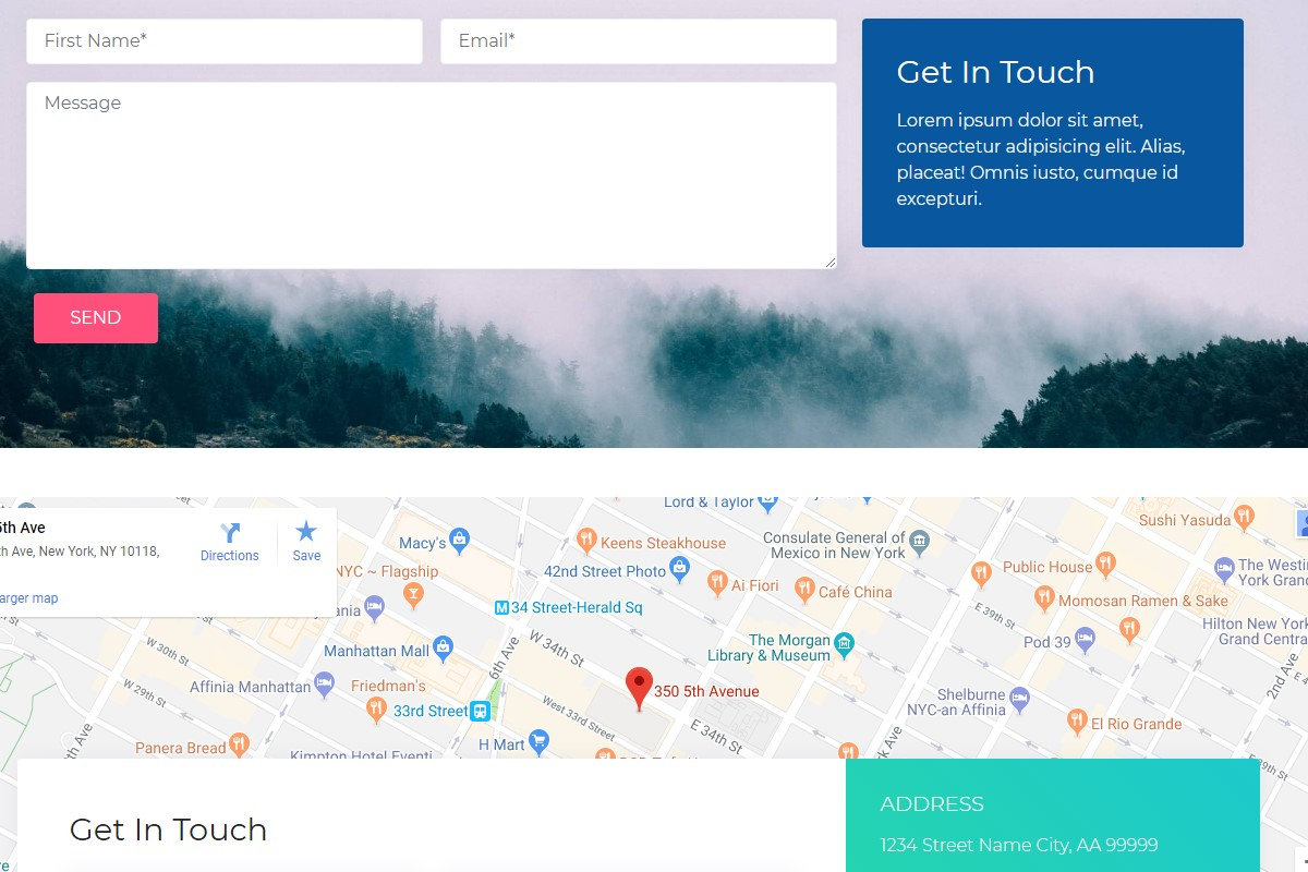 Responsive Maps and Footers