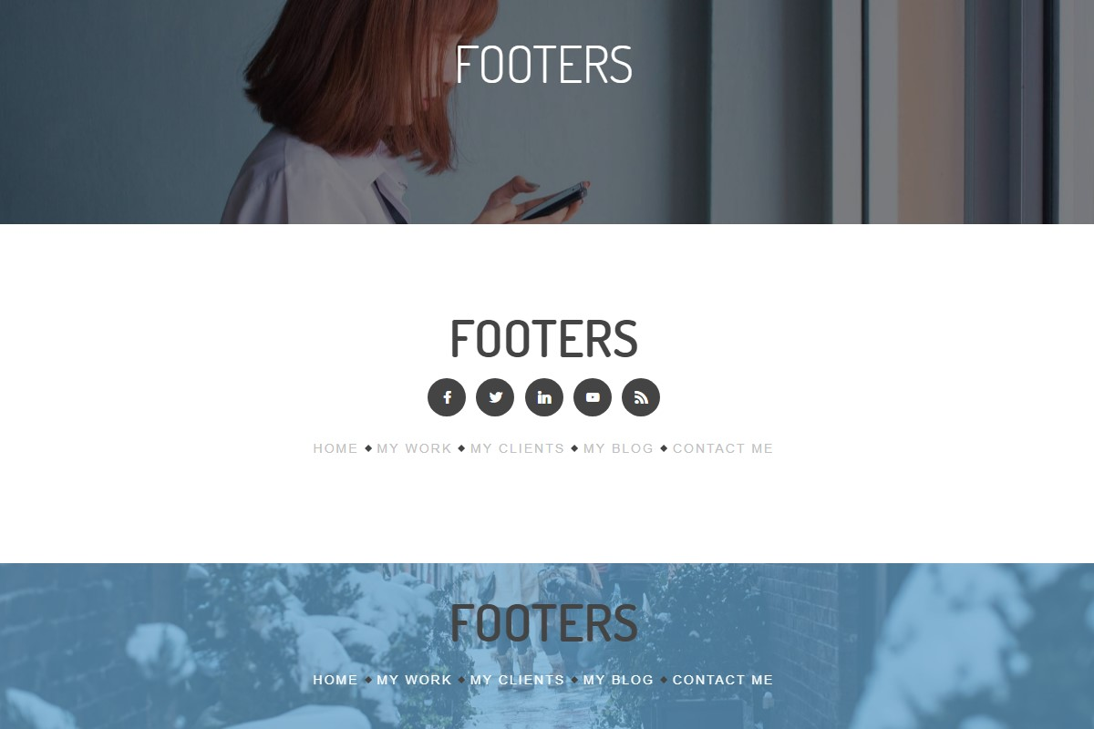 Creative Footer