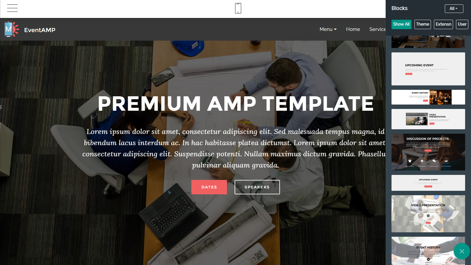 premium amp template