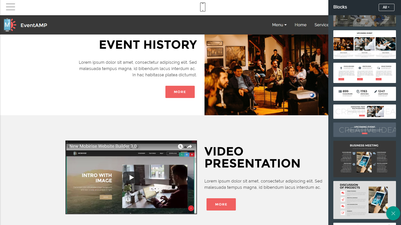 amp site template