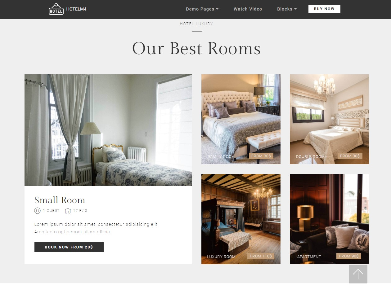 Features Theme for Hotel Website