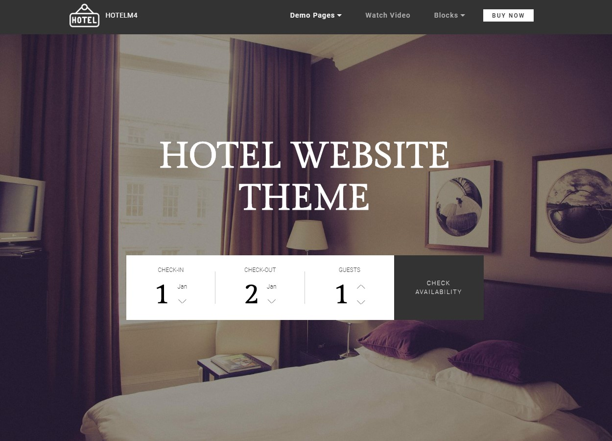 Hotel Website Theme