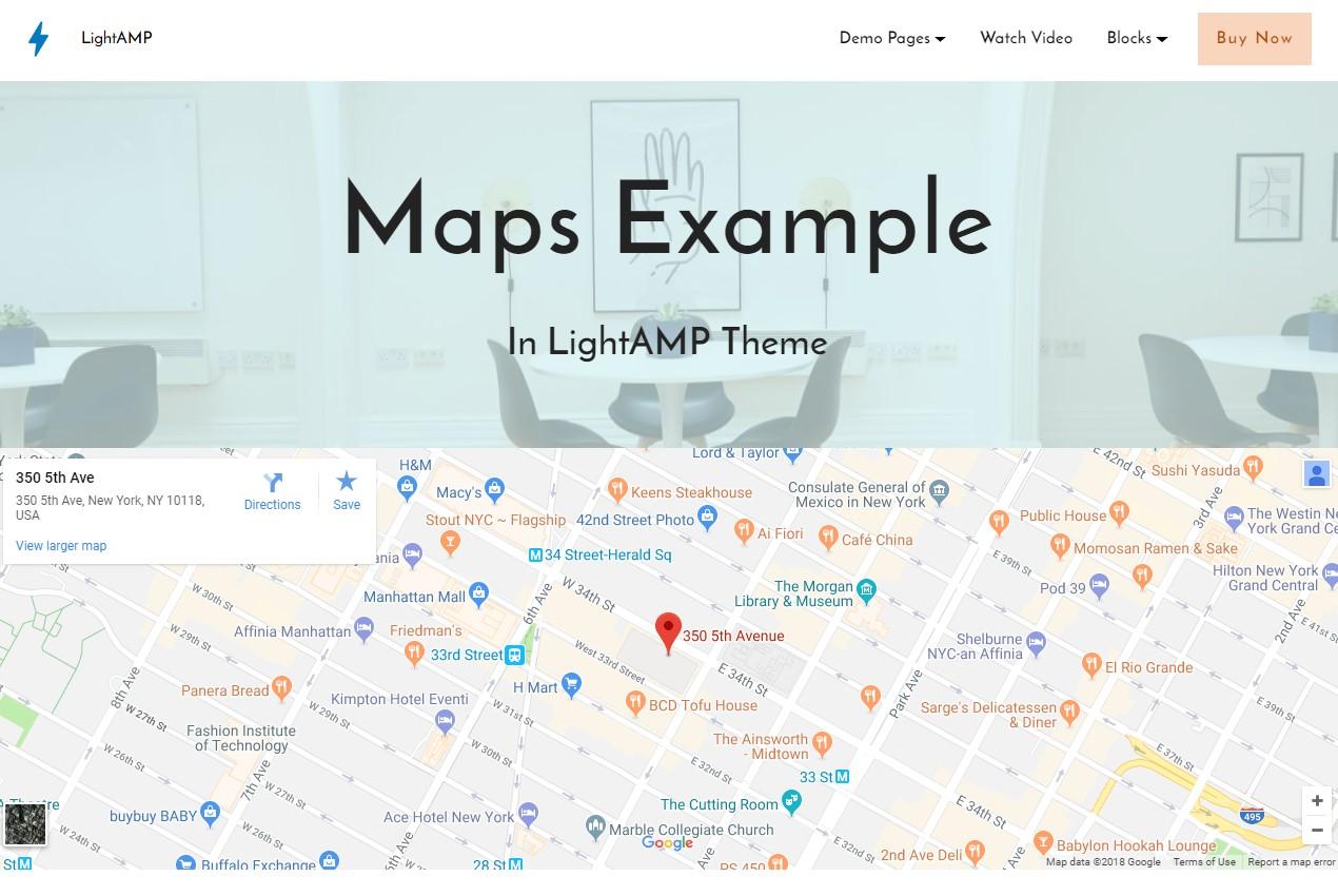 LightAMP HTML Map Template