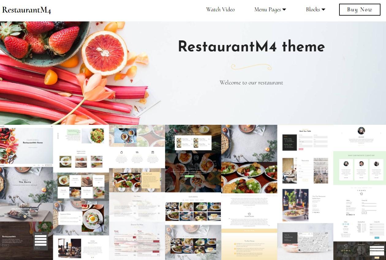 HTML Bootstrap Restaurant Template