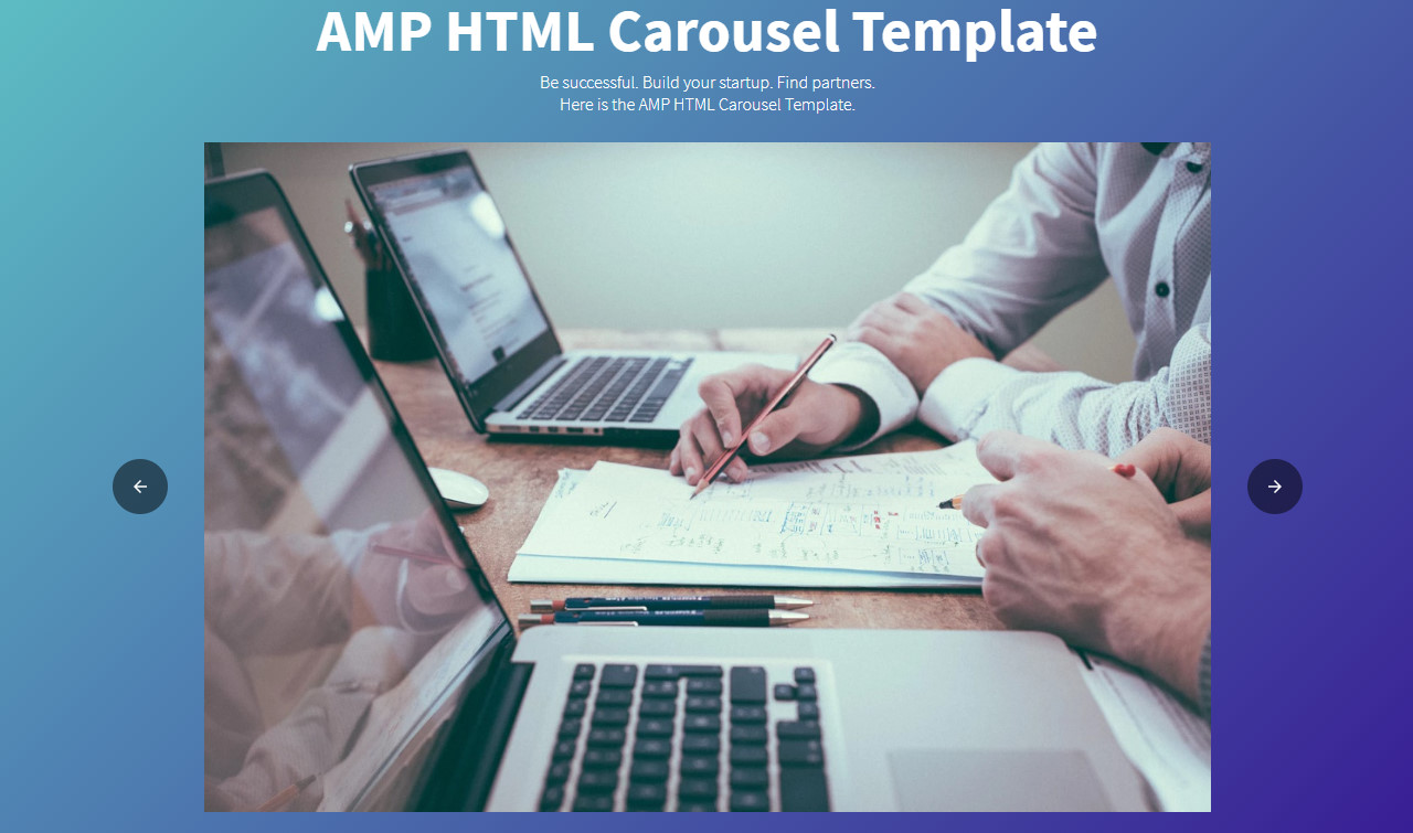 AMP Carousel HTML Template