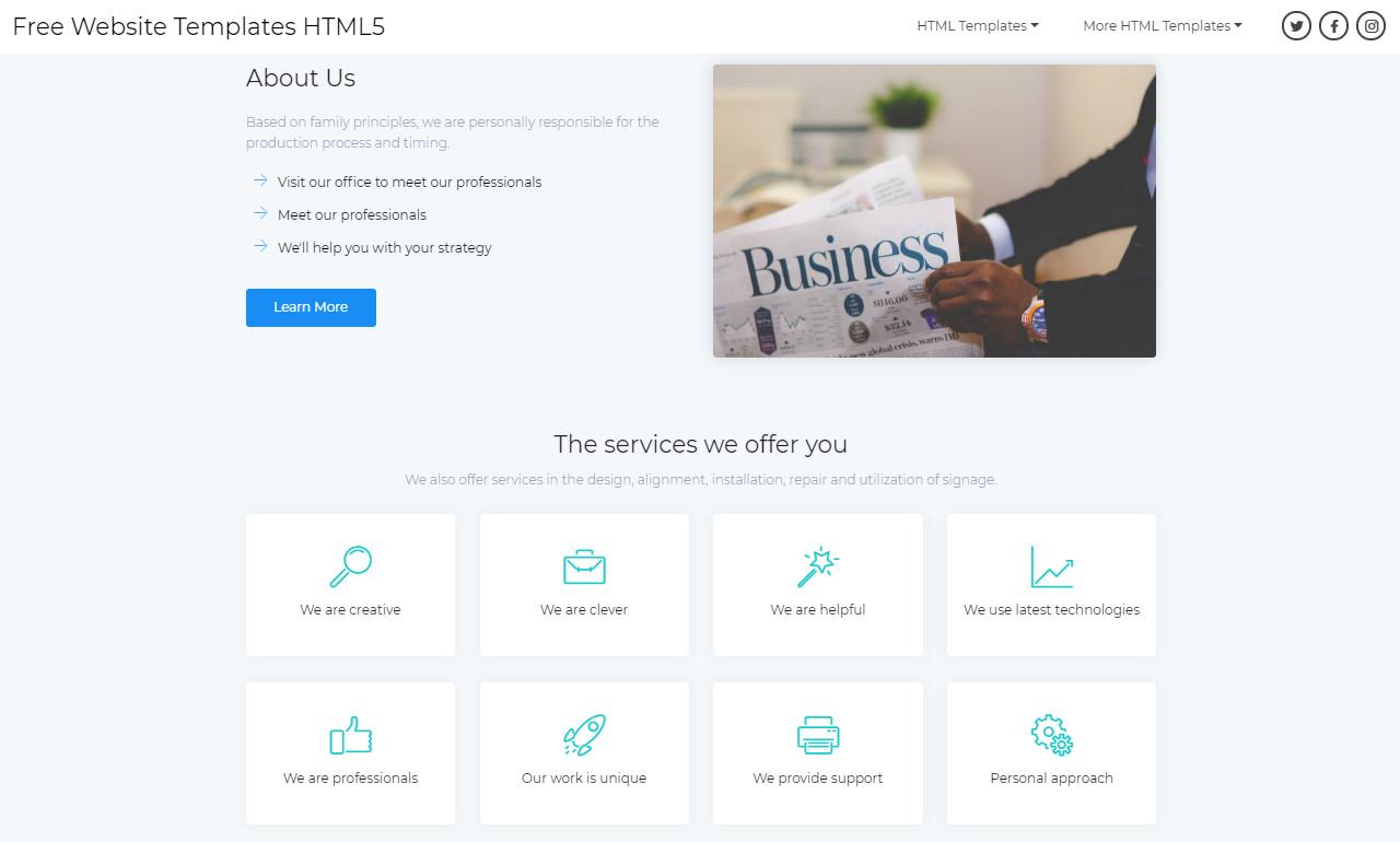 Free Website Templates HTML5