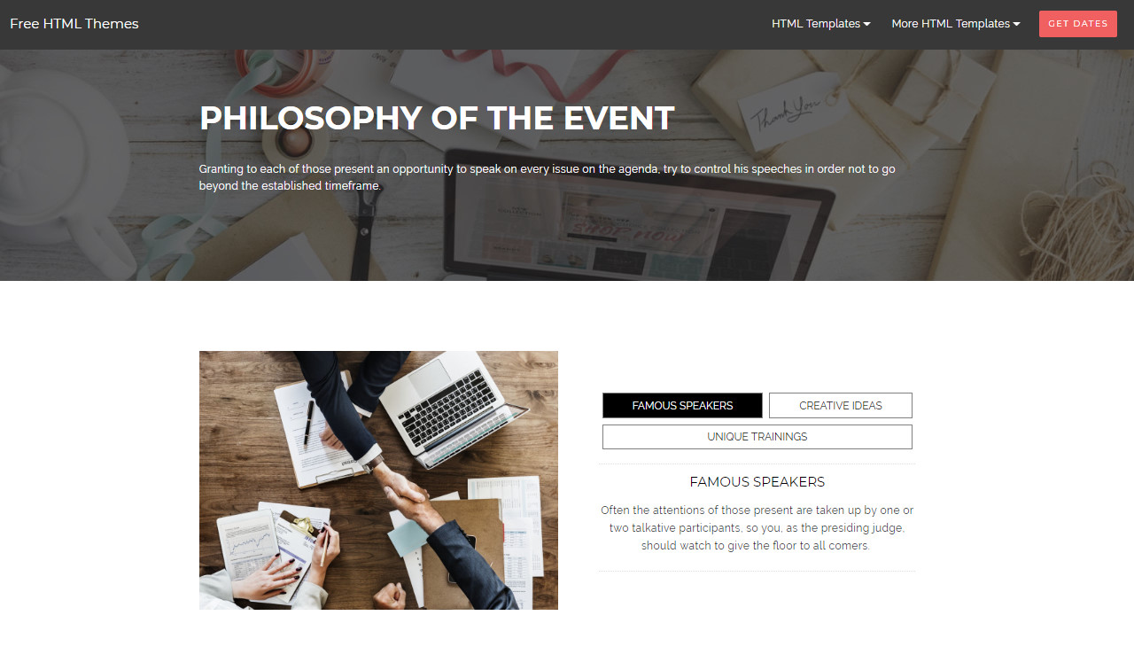 Free HTML Themes