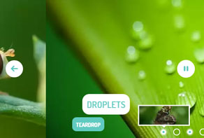 responsive jquery slider with text